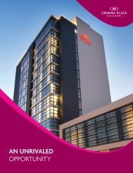 an unrivaled - IHG - Hotel Franchise Development - InterContinental ...