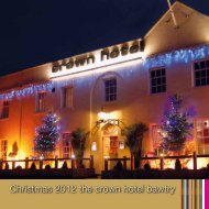 Christmas 2012 the crown hotel bawtry