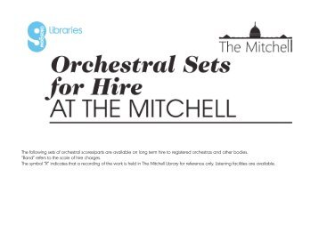 The following sets of orchestral scores/parts are ... - Glasgow Life