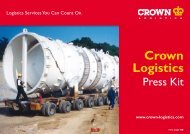 Press Kit - Crown Logistics