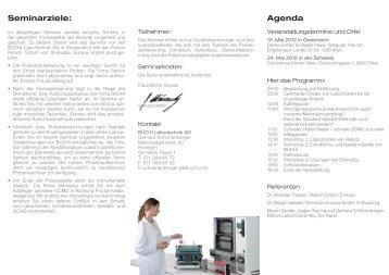Seminarziele: Agenda - Shimadzu Österreich