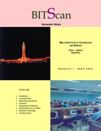 Semester Notes - BITS Pilani