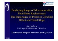 Predicting Range of Movement after Total Knee Replacement - EFORT