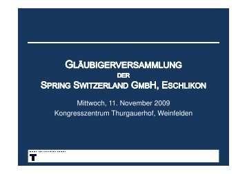 3. Klass-Gläubiger - Thalmann Treuhand AG