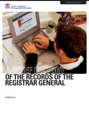 A BrIef HIStOry Of tHe RECORDS OF THE REGISTRAR GENERAL