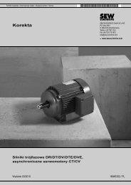 Silniki trójfazowe DR/DT/DV/DTE/DVE ... - SEW Eurodrive