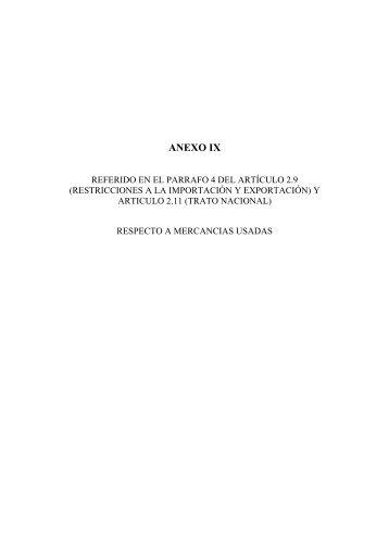 Mercancias Usadas - EFTA