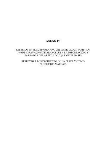 ANEXO IV - EFTA