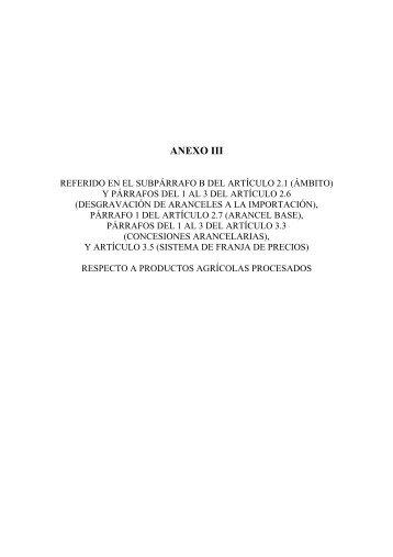anexo iii - EFTA