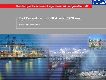 Port Security – die HHLA setzt ISPS um - Mariko.Ris