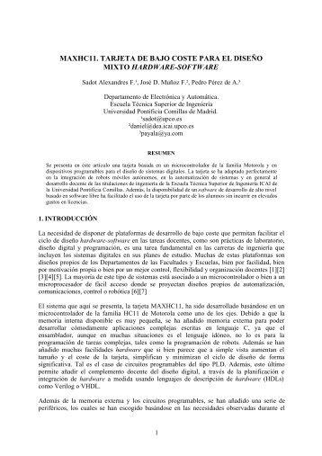 Maxhc11. Tarjeta de bajo coste para el diseño - e-spacio UNED