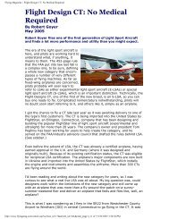 Flying Magazine - Flight Design CT: No Medical ... - Hi View Aviation