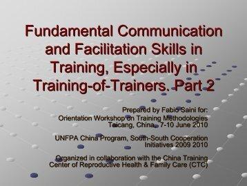 Fundamental Communication and Facilitation Skills in Training ...