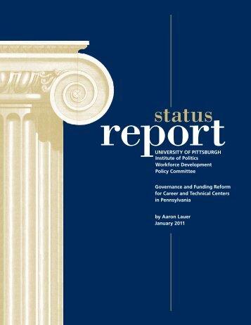 the latest Status Report - University of Pittsburgh - Institute of Politics
