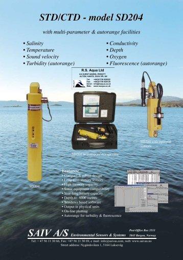 STD/CTD - model SD204 - RS Aqua UK