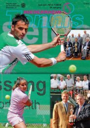 Juni-Juli · NT 6-7/2010 - Tennis-Verband Niederrhein e.V.