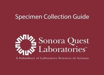 Specimen Collection Guide - Sonora Quest Laboratories