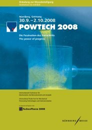 POWTECH 2008 Die Faszination des Fortschritts The power of ...