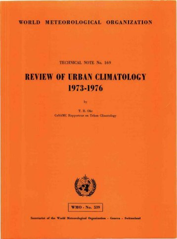 Review of Urban Climatology, 1973-1979 - Links