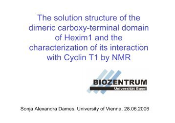 The solution structure of the dimeric carboxy ... - EMBL Hamburg