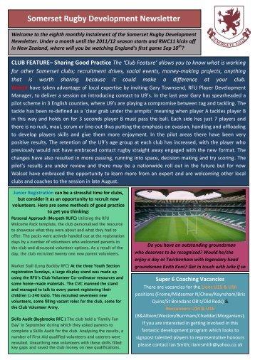 Somerset Rugby Development Newsletter - Somerset RFU