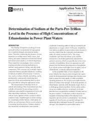 AN 152: Determination of Sodium at the Parts-Per-Trillion ... - Dionex