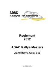 Reglement 2012 ADAC Rallye Masters - ADAC Motorsport