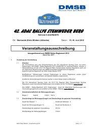 Ausschreibung 42. ADAC Rallye Stemweder Berg 2012