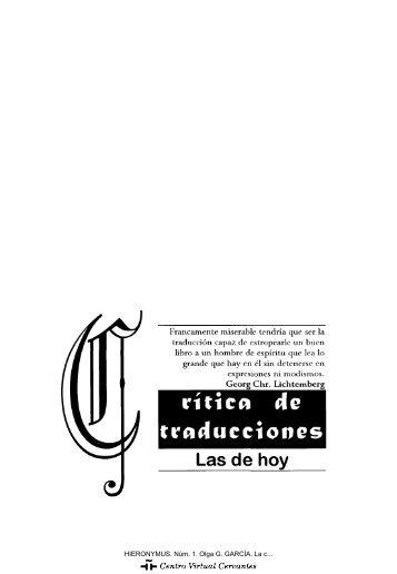 Las de hoy - Centro Virtual Cervantes