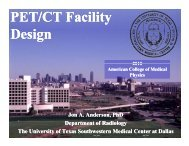 PET/CT Facility Design