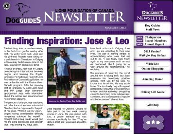 NewsletteR - Lions Foundation of Canada Dog Guides