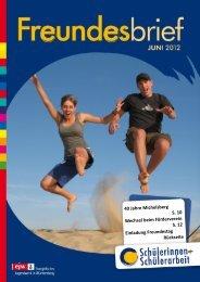 Freundesbrief Sommer 2012 - Evangelisches Jugendwerk in ...
