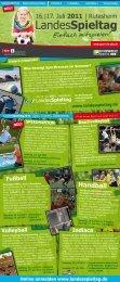 Flyer LandesSpieltag 2011 - Evangelisches Jugendwerk in ...
