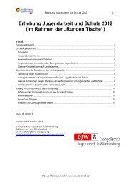 Erhebung Jugendarbeit und Schule 2012 - Evangelisches ...