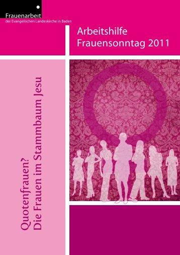 Arbeitshilfe Frauensonntag 2011 als Download - Evangelische ...