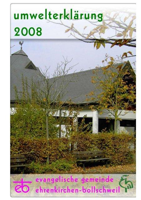 Umwelterklärung 2008 - Evangelische Landeskirche in Baden