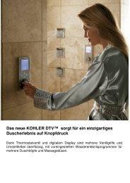 Das neue KOHLER DTV™ sorgt für ein einzigartiges Duscherlebnis ...