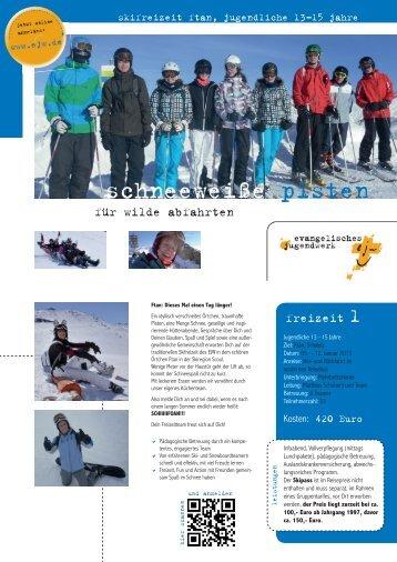 Flyer Skifreizeiten 2013 EJW Hessen