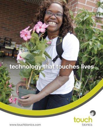 Touch Bionics Company Brochure