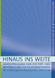 Hinaus ins Weite - Evangelische Kirche in Mitteldeutschland
