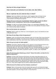 Interview mit Hans-Jürgen Hufeisen, Komponist und studierter ...