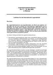 Jugendministerkonferenz am 17. / 18. Mai 2001 in Weimar