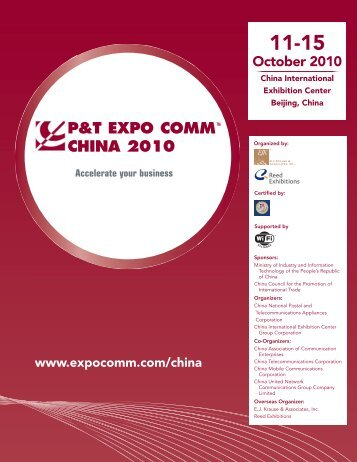 p&t expo comm china 2010 - EJ Krause & Associates, Inc., Germany