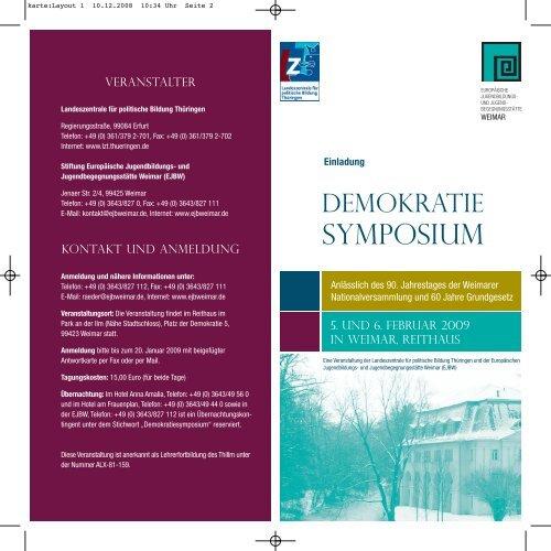 Flyer als PDF - Europäische Jugendbildungs