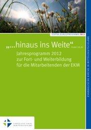 Fortbildungsprogramm 2012 - Evangelische Kirche in ...