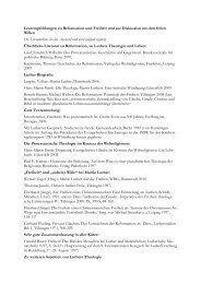 Leseempfehlungen zu Reformation und Freiheit und zur Diskussion ...
