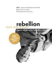 statt rebellion? - Schulen f