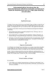 Ordnungsbehördliche Verordnung über die - Eitorf