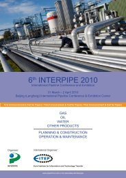 Interpipe 2010 - Call for Papers - EITEP - Euro Institute for ...