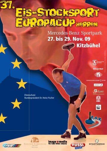 Broschuere zum Europa-Cup 2009 - deutscher eisstock - verband ev